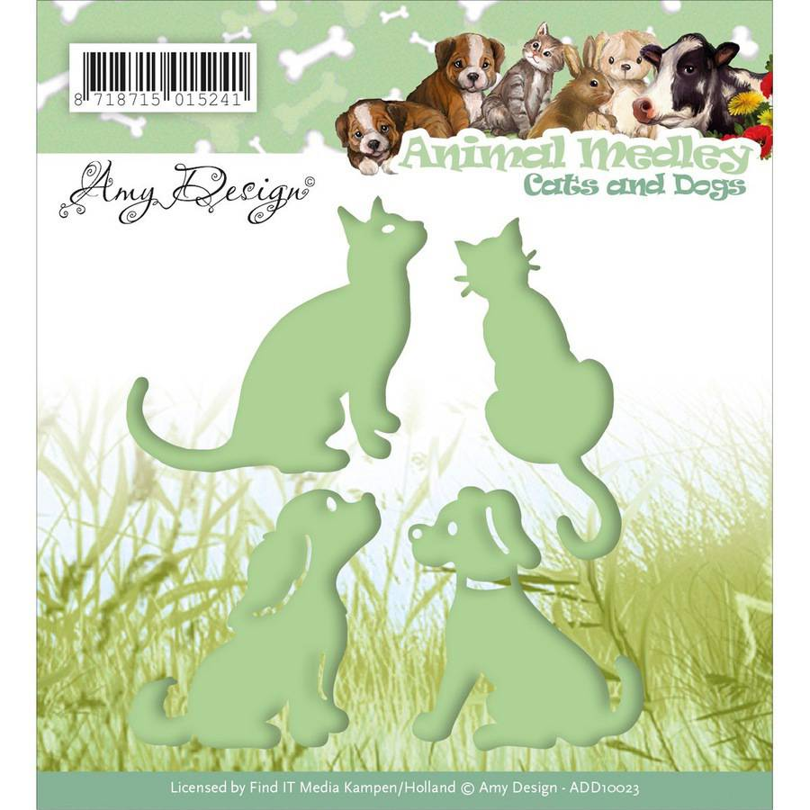 Find It Trading Amy Design Animal Medley Die, Cats & Dogs