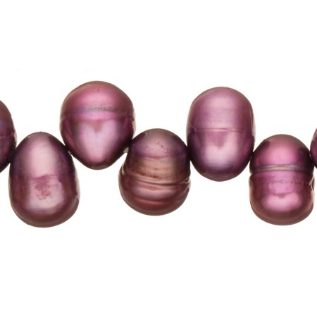 Wine Freshwater Cultured Pearls Natural Potato, B+ Graded, 7-8x9-10mm (Approx.), 15.5Inch Strings/50Pearls