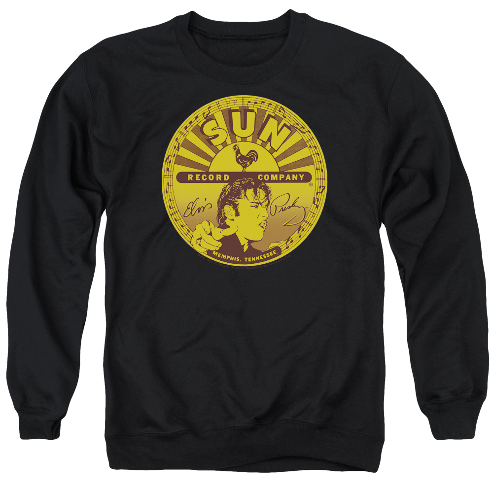 Sun Elvis Full Sun Label Mens Crewneck Sweatshirt