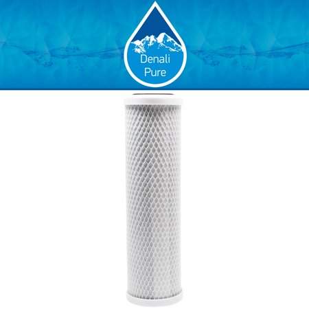 2-Pack Replacement GE GXRM10RBL Activated Carbon Block Filter - Universal 10 inch Filter for GE REVERSE OSMOSIS FILTRATION SYSTEM - Denali Pure Brand - image 4 of 4