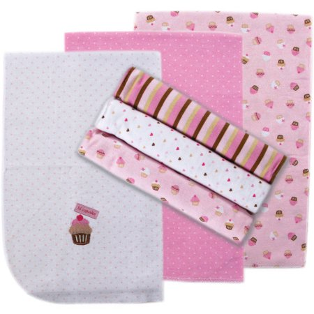 Luvable Friends Baby Boy and Girl Flannel Receiving Blanket, 6 Pack