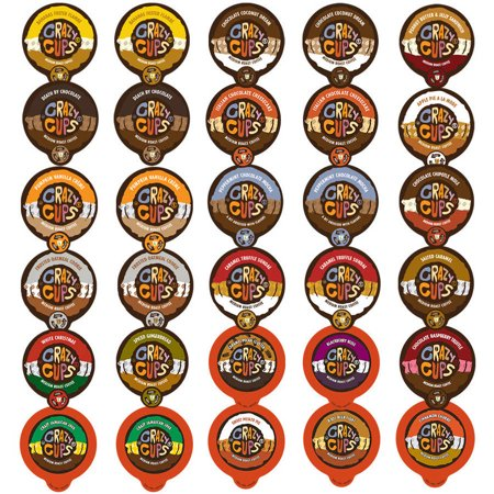 Crazy Cups, Flavored Coffee Single Serve Cups Variety Pack Sampler, 30 Ct