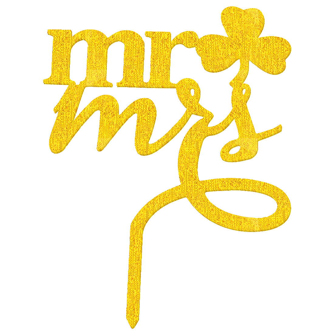 Party Acrylic Mr and Miss Shaped DIY Cupcake Decoration Cake Topper Gold Tone - image 4 of 4
