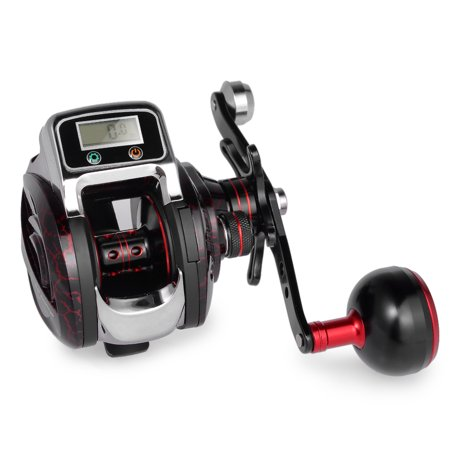14+1 BB Ball Bearing 6.3:1 Bait Casting Fishing Reel One-way Clutch Baitcasting Reel Left/Right Hand Fishing Reel Fishing Line Counter Fishing Reel - image 1 of 7