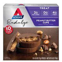 Atkins Endulge Treat, Chocolate Peanut Butter Cups, Keto Friendly, 5 Count