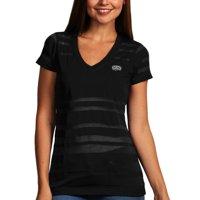 San Antonio Spurs Antigua Women's Juke Burnout V-Neck T-Shirt - Black