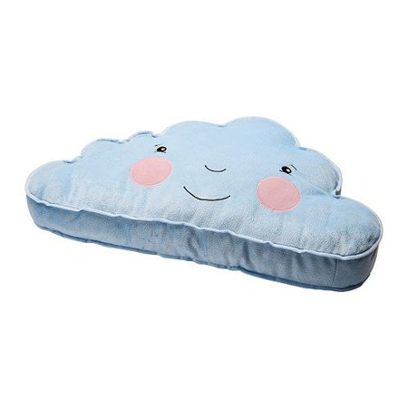Ikea Cushion Pillow Blue Smiling Cloud Accent Kids Children Toy Throw, Cute and happy throw pillow By FJADERMOLN for $<!---->