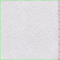 Soft White Floral Lace, Fabric By the Yard