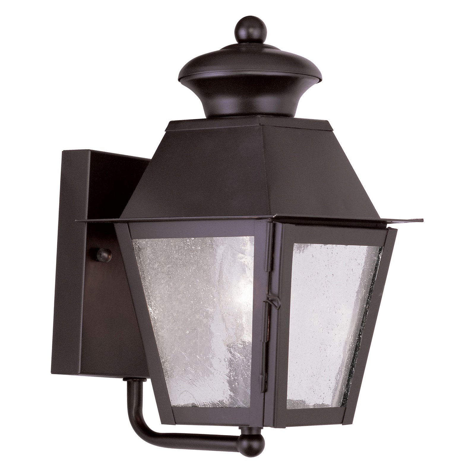 Livex Mansfield 2160-07 1-Light Outdoor Wall Lantern in Bronze