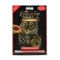 Mini Engraving Art Kits Tiger & Cub, copper (pack of 8)