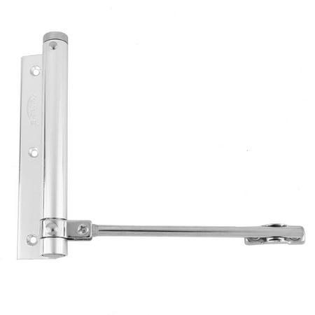 Family Office Aluminum Alloy Automatic Door Closer Silver Tone 15 6Cm Length