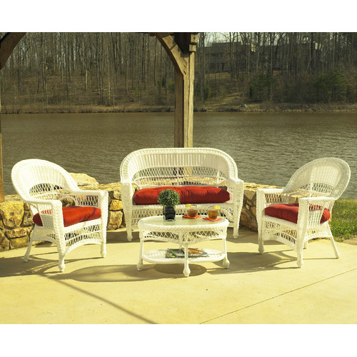 ElanaMar Designs Madison 4 Piece Deep Seating Group with Cushions
