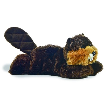 "World Plush - Mini Flopsie - BUILDER the Beaver (8 inch), Beaver measures approx 8"" By Aurora"