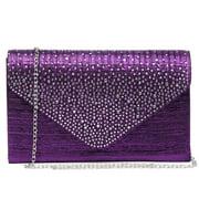 Dasein Evening Envelope Handbag Party Prom Clutch Purse Shoulder Cross Body Bag
