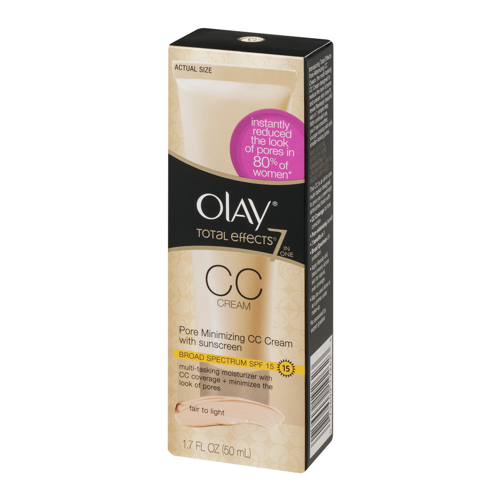 Olay Total Effects 7-in-One Pore Minimizing CC Cream SPF 15 Facial Moisturizer, Fair to Light, 1.7 fl oz