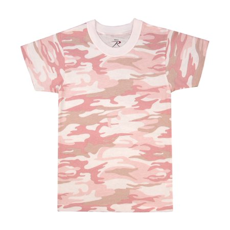 New Pink Camo - New, Baby Pink Camouflage, Girl's T-shirt in Kids Sizes
