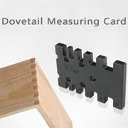 Woodworking Dovetail Measuring Card Measuring Ruler Gaps Gauge Ruler Tool