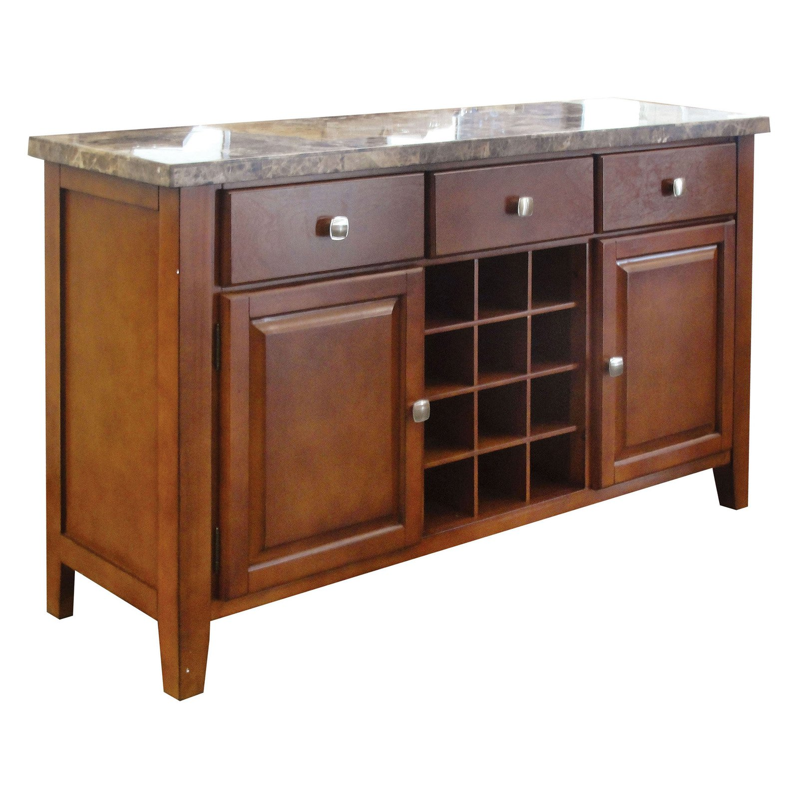 Acme Furniture Bologna Brown Marble Server