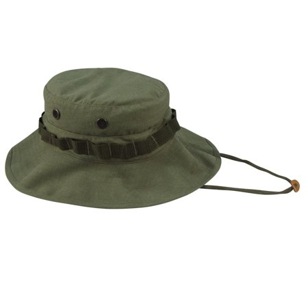 Authentic Replica Vietnam Era Boonie Hat in Olive Drab Boonie Hat Olive