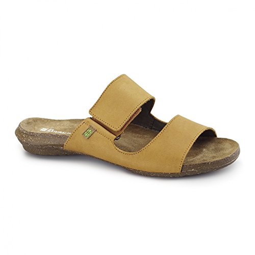 El Naturalista ND75 Ladies Leather Velcro Sandals Carrot Carrot sa 38