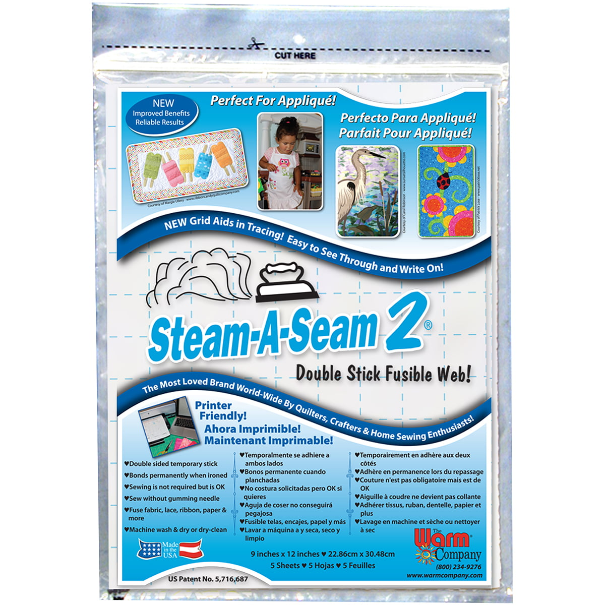 """40 yards of STEAM A SEAM 2 Fusible Web x 12/"""" Wide crafts art quilts"""
