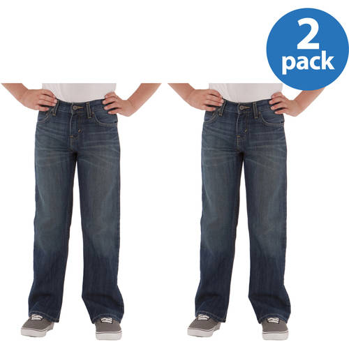 Signature by Levi Strauss & Co. Boys' Bootcut Jeans 2 Pack Value Bundle