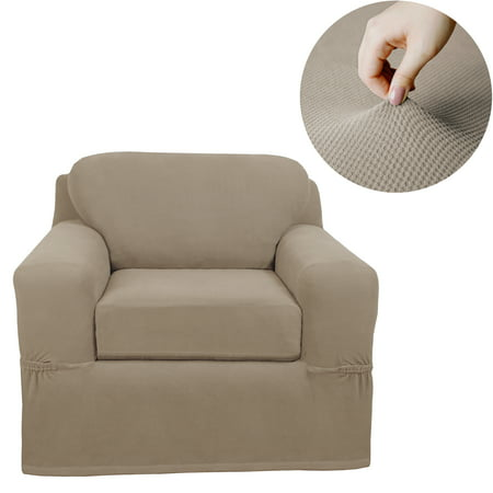 Maytex Pixel Stretch Furniture Cover/Slipcover Chair, 2 -Piece