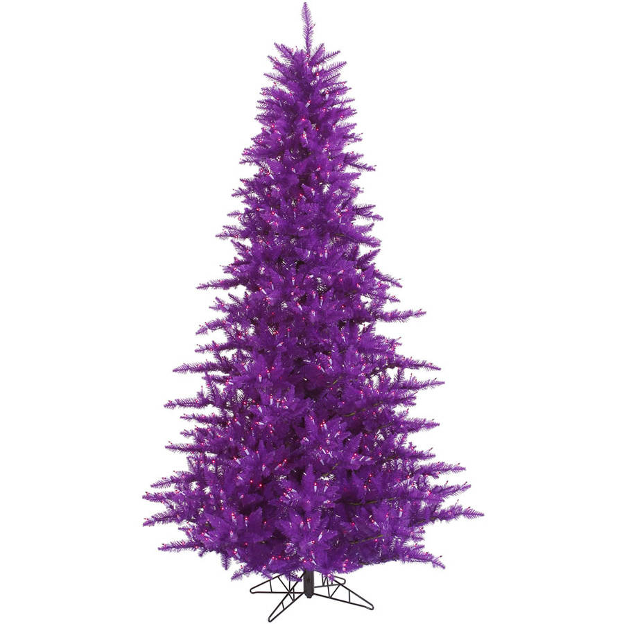 Vickerman 3' Purple Fir Artificial Christmas Tree with 100 Purple LED Lights