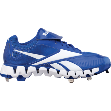 8ce92c81186 Reebok - Reebok Men s Zig Cooperstown Low Metal Baseball Cleats Size 15  Royal White - Walmart.com