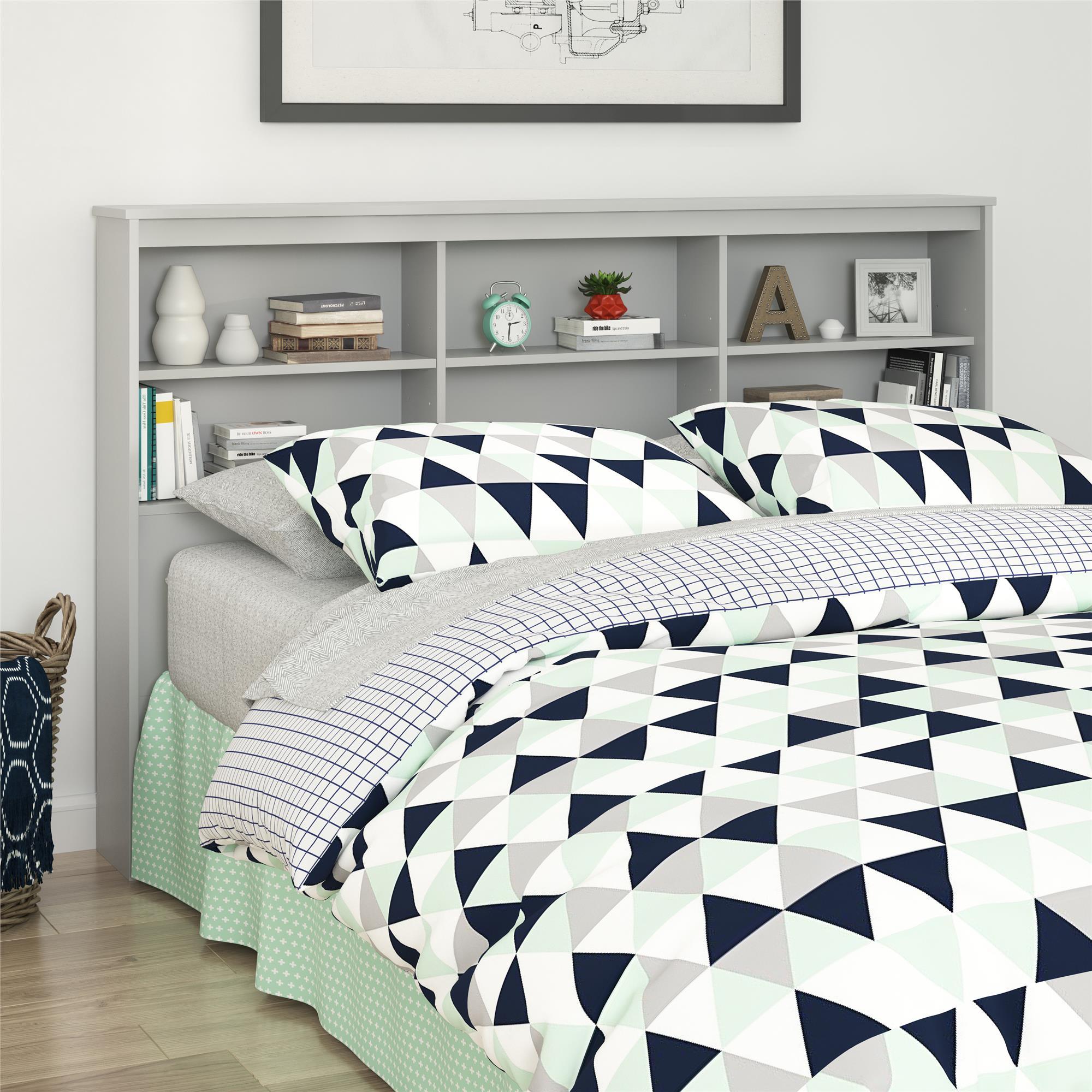 Mainstays Full/Queen Storage Headboard, Dove Gray