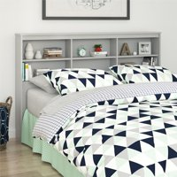 Mainstays Full/Queen Storage Headboard, Dove Gray