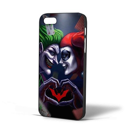 Ganma Joker and Harley Quinn Love Batman Case For iPhone Case (Case For iPhone 5/5s Black) (Harley Quinn Phone Wallpaper)
