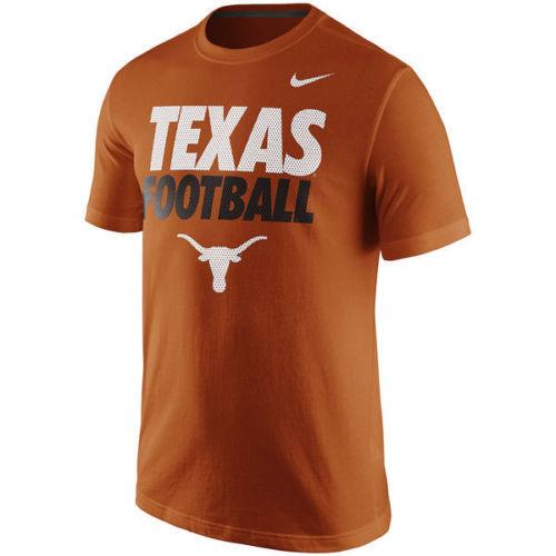 Texas Longhorns Nike Men's Football Practice Logo Shirt Small