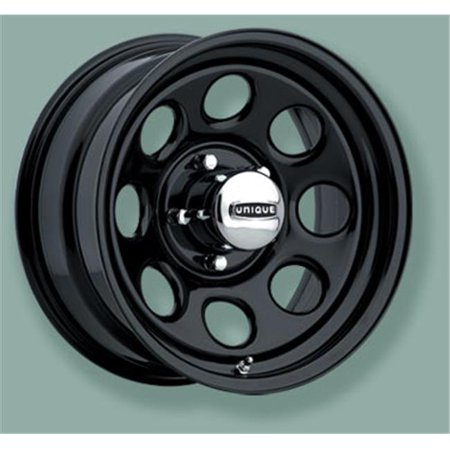 KEYSTONE 2975155 15 x 10 In. Wheel Series 297 Black Finish - 5 To 5.5 In. Bolt Circle - image 1 de 1