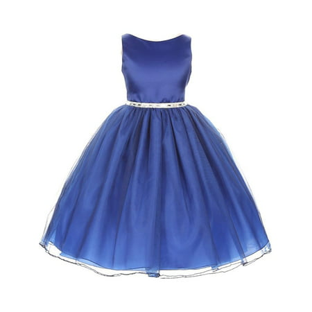 Chic Baby Little Girls Royal Blue Degrade Overlay Special Occasion Dress