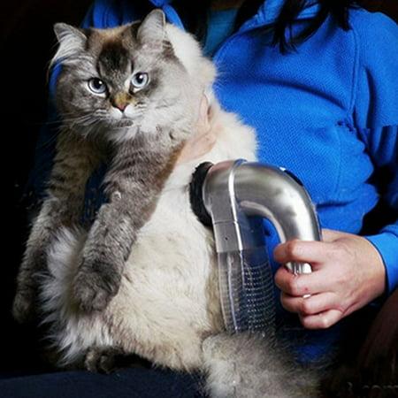 Cat Dog Pet Electric Hair Fur Eraser Remover Shedding Grooming Brush Comb Vacuum Cleaner Trimmer