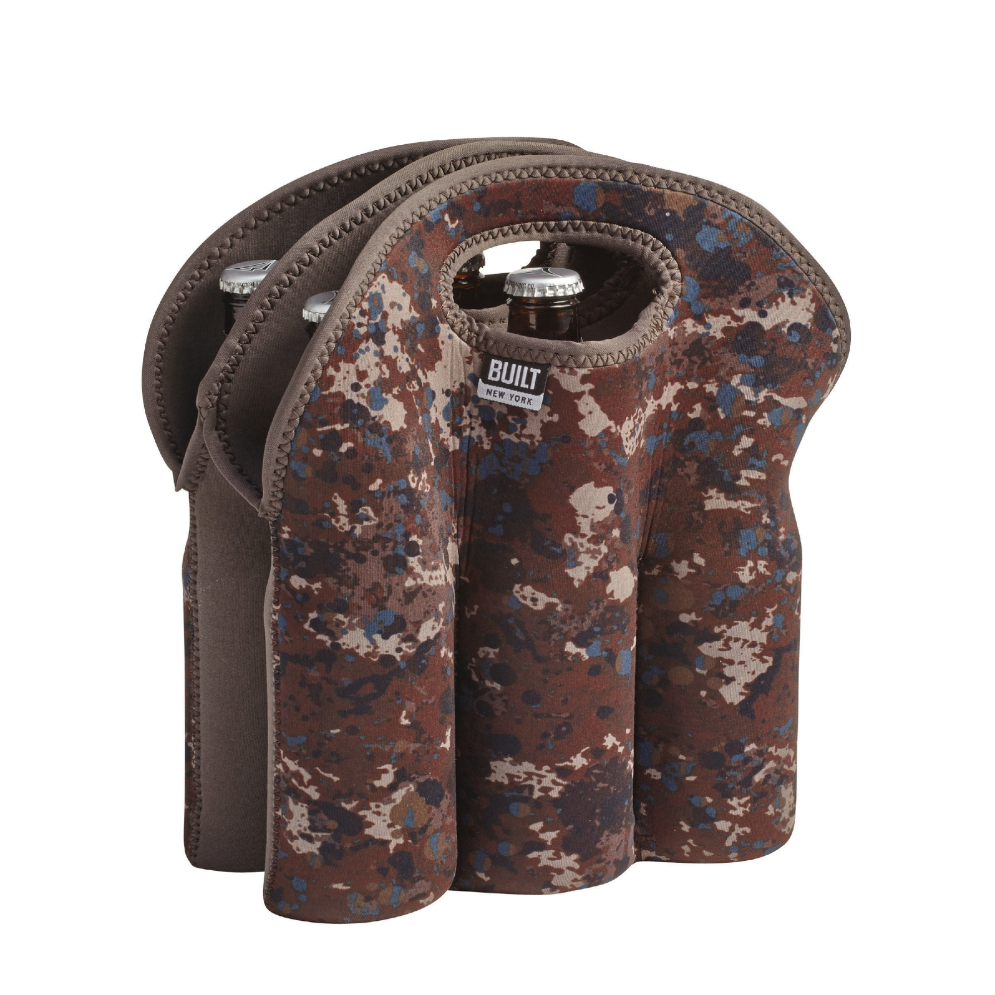 NY Tweed Camouflage Neoprene Six Pack Bottle Tote