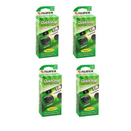 - 4 Fujifilm Quicksnap Flash 400 ASA Disposable Single Use 35mm Camera