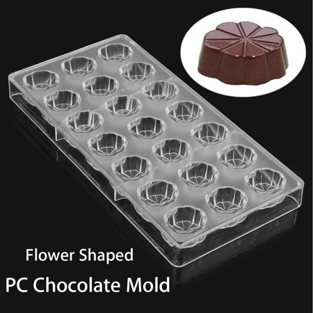 Clear Flower Shaped PC Chocolate Mold Candy Pudding Mould DIY Tray Baking Tools - image 6 of 6