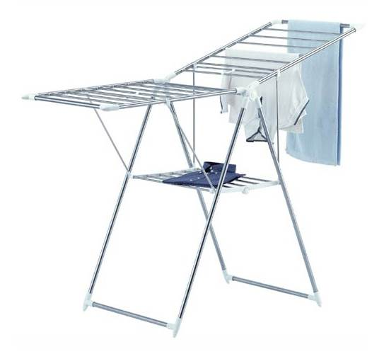 Collapsible Clothes Drying Rack in Stainless Steel
