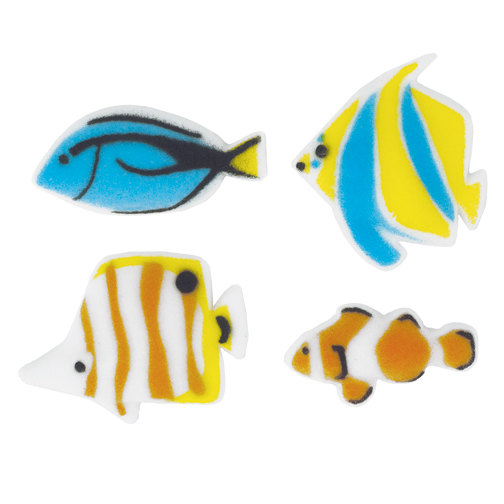 Reef Fish Sugar Decorations Toppers Cupcake Cake Cookies Birthday Favors Party 12 Count