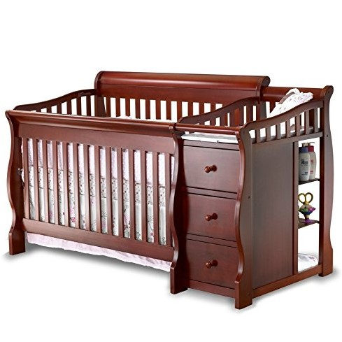 Sorelle Tuscany 4-in-1 Convertible Crib and Changer Espresso