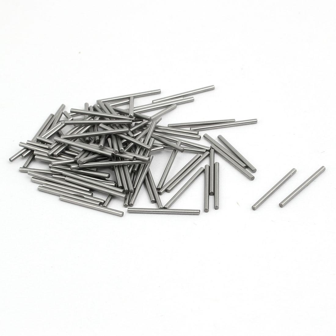 2mmx16mm Metal Parallel Dowel Pins Fasten Elements Silver Tone 100pcs