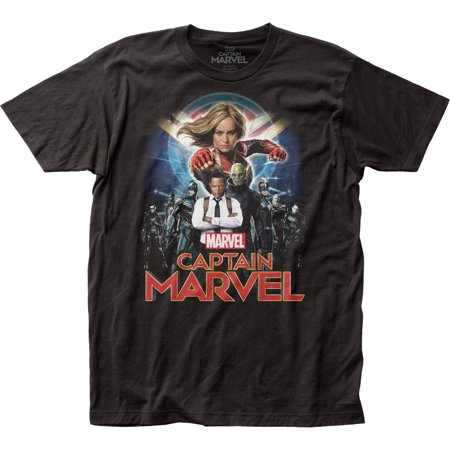 Captain Marvel DC Comics Superhero Group Shot Adult Fitted Jersey T-Shirt Tee Dc Fitted Jersey Tee