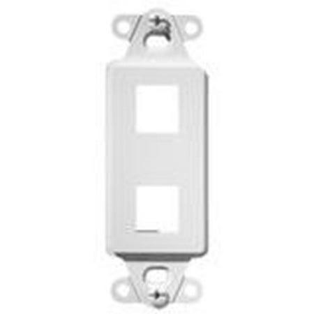 B&k Outlet - On-Q Legrand WP3412-BK Decorator Outlet Strap 2-Port, Black