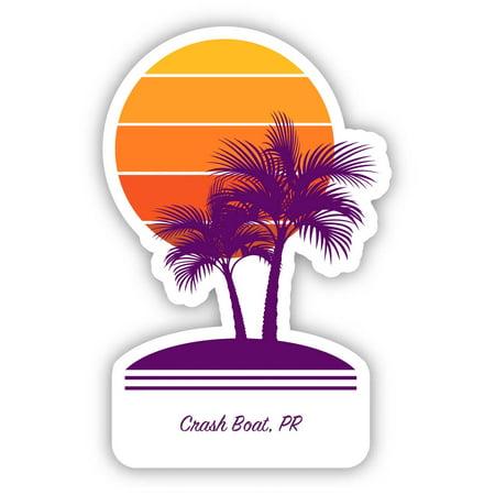 Crash Boat Puerto Rico Souvenir 4 Inch Vinyl Decal Sticker Palm design Puerto Rico Decal Sticker