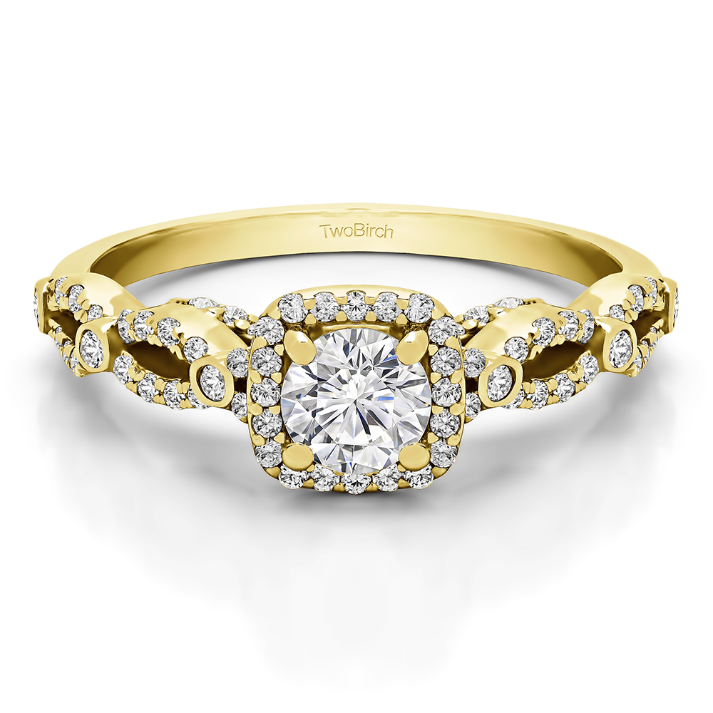 Details about  /1//4 CT Black Moissanite /& Diamond 14k Gold Over Infinity Engagement Ring