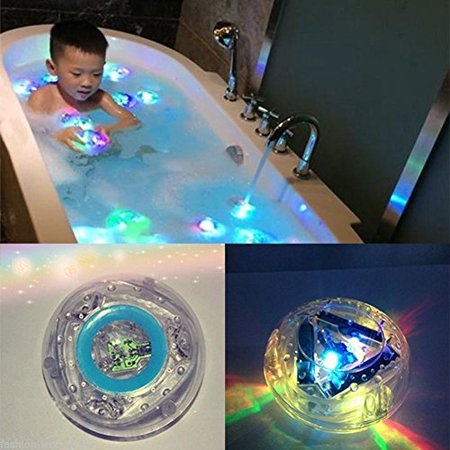 Haleppy Bath LED Light Toys Funny Toy Bathing Tub LED Lights Waterproof Toys for Kids