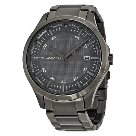 Armani Exchange Hampton Grey Textured Dial Mens Watch AX2135 (Mens Textured Dial)