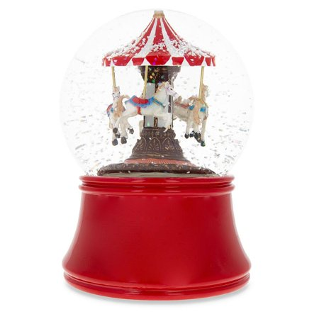 Spinning Carousel Musical Box Snow -